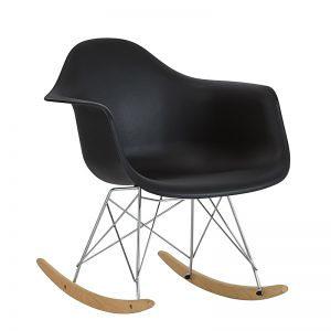 Stolica za ljuljanje crna