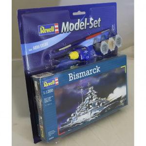 Maketa brod Bismarck - Set (ljepilo, boje, kist)