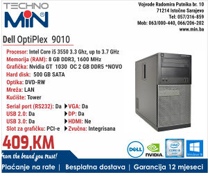 Dell OptiPlex 9010, i5 3550 3.3/8/500/RW/Tower