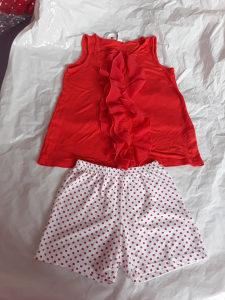 Komplet sorc i majica za djevojcice