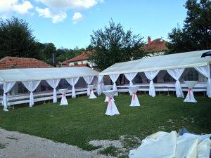 Sator satori za svadbe,paviljoni,svecani stolovi visoki