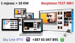 Sky Line IPTV HD kanali TEST 48h