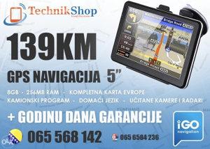 GPS NAvigacija 5 inča, Prevedena, RADARI !!!