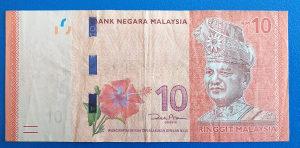 Malezija 10 ringgit 2012.