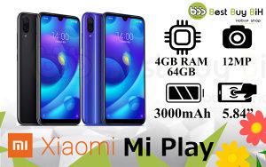Xiaomi Mi Play Dual SIM 4GB RAM 64GB ROM! BLACK BLUE