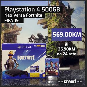 PlayStation 4 500GB Fortnite Neo Versa + FIFA 19 PS4