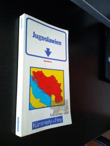 Auto karta-Jugoslawien Jugoslavije-njemački jezik