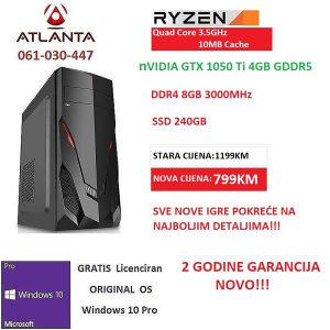 AMD Ryzen 3 1200/GTX 1050 Ti/240gb ssd/8GB DDR4