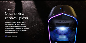 Sony BLUETOOTH Audio sistem GTK-XB72 Zvučnik EXTRA BASS