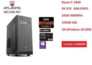 AMD Ryzen 5 2600 RX 570 8GB 240GB SSD DDR4 16GB