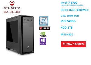 Ultimate PC i7 8700/16GB DDR4 3000/240 1TB/GTX 1060 6GB