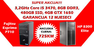 HP/Fujitsu Core i5 3470 SSD GTX 1650