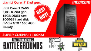 GAMING RAČUNAR LIAN LI Core i7, 16 Gb RAM, GTX 1650