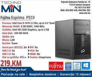 Fujitsu Esprimo P510, i5 3470 3.2/8/320/Tower
