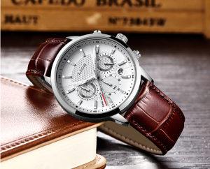 NOVO! Elegantni muški sat LIGE smeđi!
