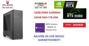 RYZEN 7 3700X/16GB DDR4/240 1TB/RTX 2080 8GB GDDR6