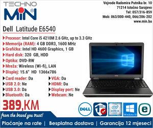 """Dell Latitude E6540, 15.6"""", i5 4210M 2.6/4/320/RW"""
