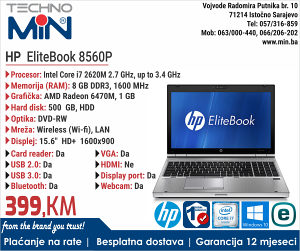 """HP EliteBook 8560P, 15.6"""" i7 2620M 2.7/8/500/RW/Cam"""