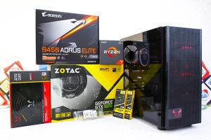 Gaming PC Riotoro Onyx; Ryzen 7 2700; GTX 1070; HDD SSD