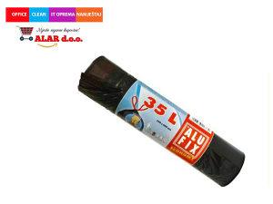 Vreće za smeće 35 litara 1/30 HDPE male crne 1911013