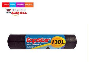 Vreće za smeće 120 litara 1/8 crna s vezicom 1911024