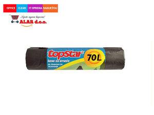 Vreće za smeće 70 litara 1/8 crna s vezicom 1911029
