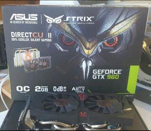 ASUS Geforce 960GTX STRIX 2GB