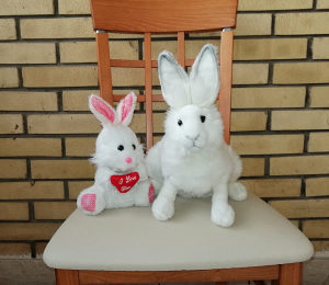 Hansa toy- Realistična igračka zečica (36cm)