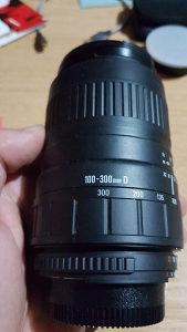 Objektiv Sigma 100-300mm Nikon bajonet