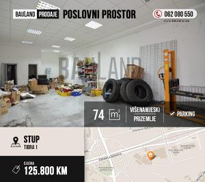 BAULAND / Poslovni prostor 74m2 / Tibra 1 Stup / Ilidža