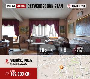 BAULAND / Četverosoban stan / Hasana Sućeske/ Novi Grad