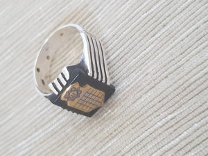 WW2 NDH srebrni prsten