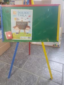 Školska tabla za djecu 60x40cm, visina 80c sa postoljem