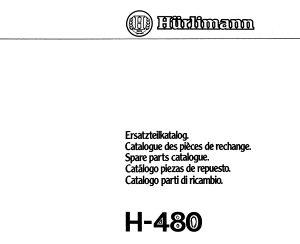 Hurlimann 480 - Katalog dijelova