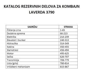Laverda 3790 - Katalog dijelova