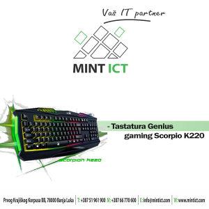Tastatura Genius Gaming Scorpion K220