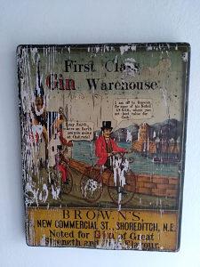 Reklama ručno oslikana 1860-1880