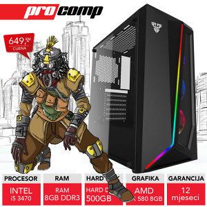 GAMING RAČUNAR Run i5 3470 AMD RX 580 8GB