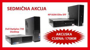 SEDMIČNA AKCIJA! HP 8200 SFF / Dell 990 Desktop