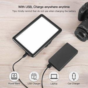 RALENO Led Video Light 5000mA 3200K-6500K White