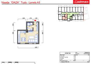 Jednosoban stan 30m2 u naselju Oaza, Tuzla