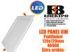 LED PANEL/LED PANELI 6W Podžbukni 120X120mm 4000K