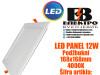LED PANEL/LED PANELI 12W Podžbukni 168X168mm 4000K