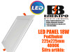 LED PANEL/LED PANELI 18W Podžbukni 225X225mm 4000K