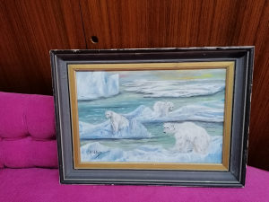 Slika, ulje na lesonitu, Svedski slikar 50x37cm