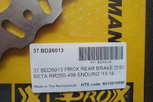 Beta 250 RR 300RR Zadnji Disk Prox