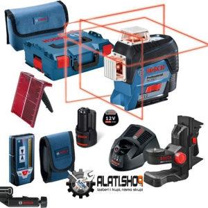 BOSCH laserski nivelir+prijemnik+držač GLL 3-80 C