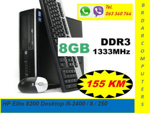 HP ELITE 8200 I5-2400, 8GB DDR3