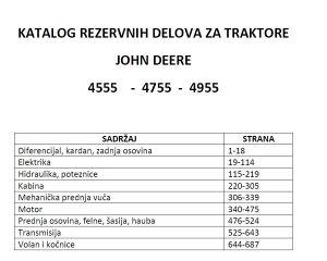 John Deere 4555-4755-4955 Katalog dijelova