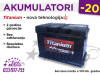 Akumulatori TITANIUM -20% - Besplatna dostava!